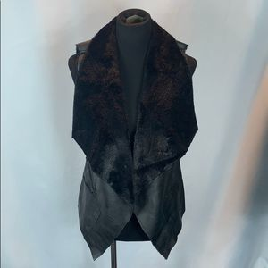 BLANK NYC Faux Shearling Drape Front Vest